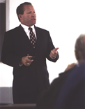 David Kudla conducting an educational seminar in Grand Rapids, Michigan